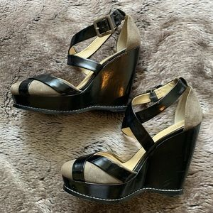 Levity high wedges, X-strapped